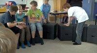 """I indslaget: """"Møbler kan gøre børn klogere"""" som blev vist den 31.5.2013, præsenterer TV Syd..."""